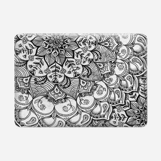 Shades of Grey - mono floral doodle
