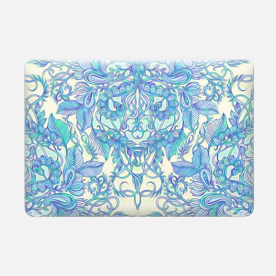 Lilac, Mint & Aqua Art Nouveau Pattern