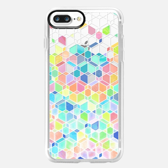 Rainbow Cubes and Diamonds on Transparent -