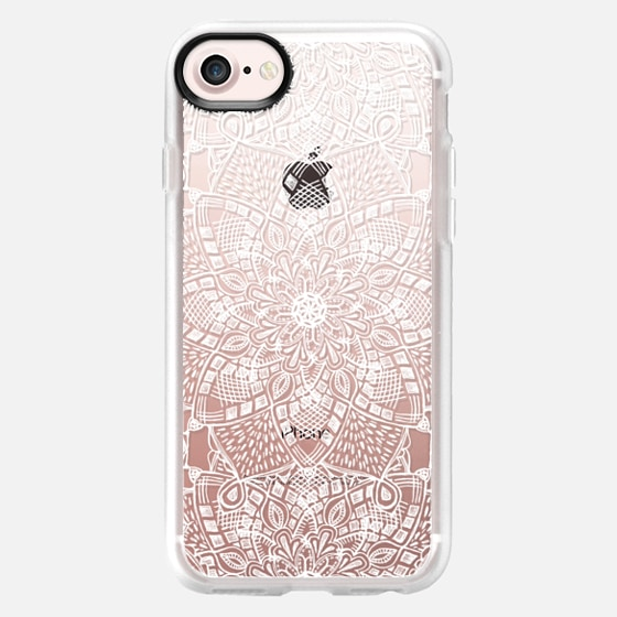 Free Spirit Floral Lace - white on transparent - Wallet Case
