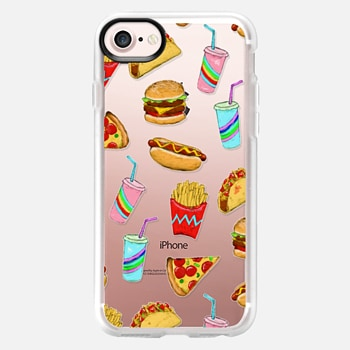 iPhone 7 Case Fast Food Fun on Clear