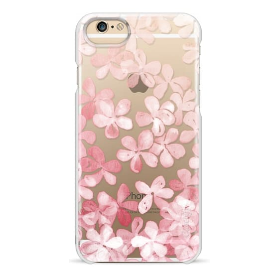 iPhone 6 Cases - Spring Blossoms - pastel pink & cream floral painted pattern on transparent