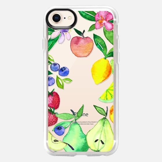 Watercolor Fruit and Blossoms on Transparent - Snap Case