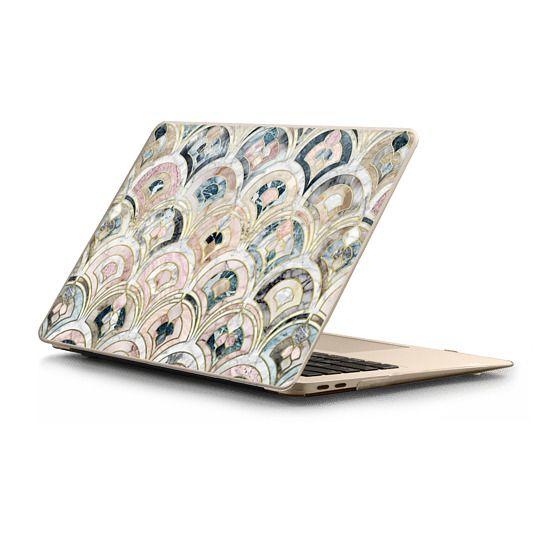 MacBook Air Retina 13 Sleeves - Art Deco Marble Tiles in Soft Pastels sleeve