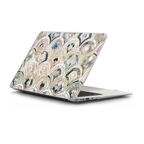 MacBook Air 13 Sleeves - Art Deco Marble Tiles in Soft Pastels sleeve