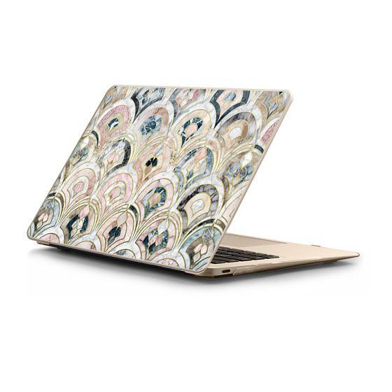 MacBook 12 Sleeves - Art Deco Marble Tiles in Soft Pastels sleeve