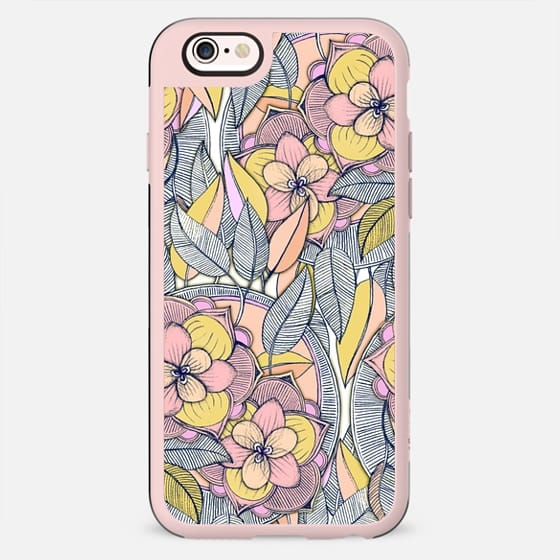 Peach and Pink Magnolia Floral Pattern - New Standard Case