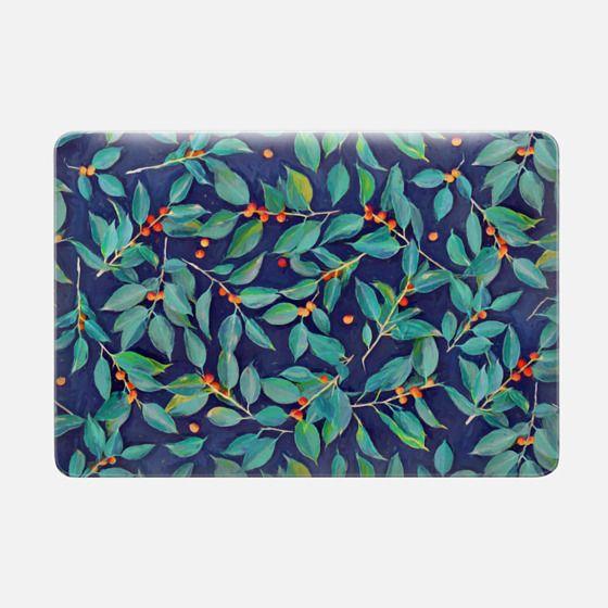 Leaves + Berries in Navy Blue, Teal & Tangerine sleeve -