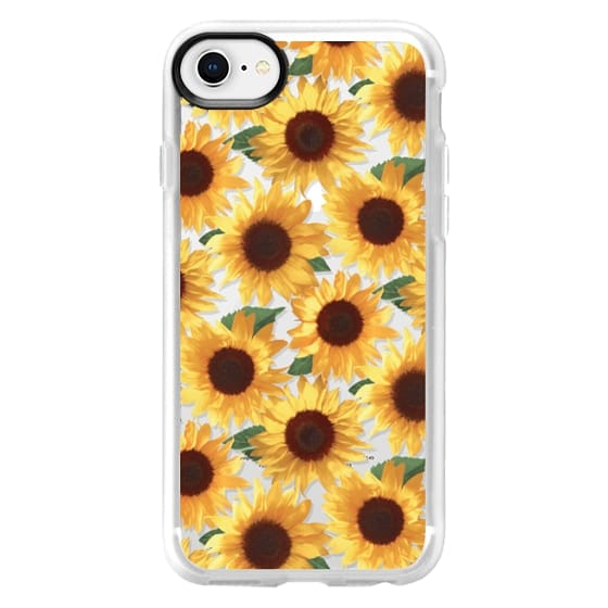 online store f3671 59b97 Classic Grip iPhone 8 Case - Happy Yellow Sunflowers clear case