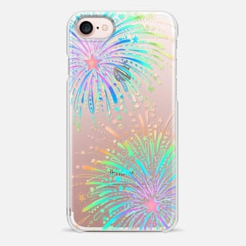 iPhone 7 Case New Year's Radiant Rainbow Fireworks - transparent