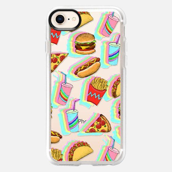 Rainbow Fast Food Fun on Clear - Snap Case