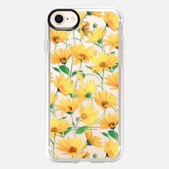 Golden Yellow Daisies on clear - Snap Case
