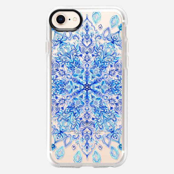 Crystal Cobalt Snowflake on transparent - Snap Case