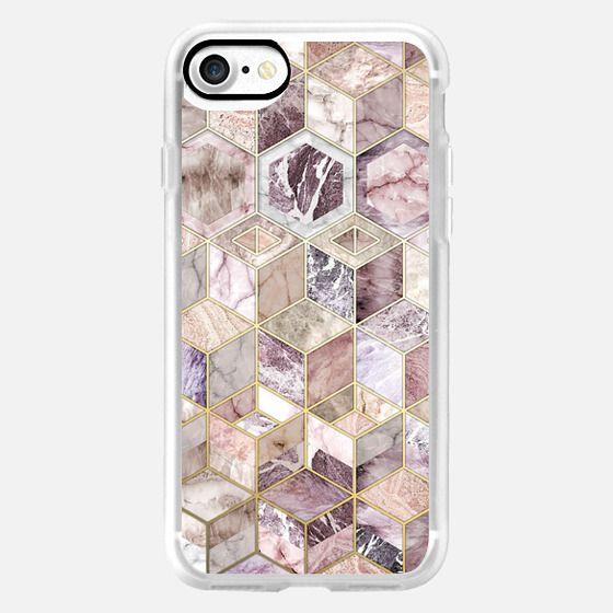 Blush Quartz Honeycomb - Wallet Case