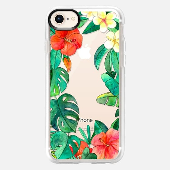 Paradise Garden on transparent - Snap Case