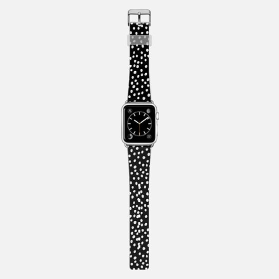 Snow Dots - White on Black band -