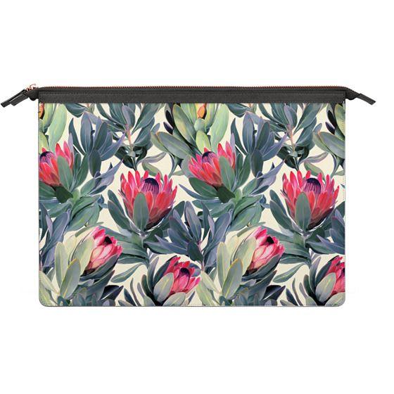 MacBook Pro 13 Sleeves - Painted Protea Pattern