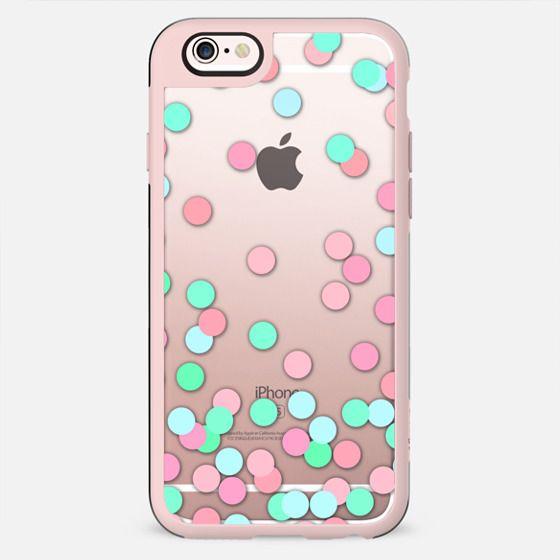 Pink, Aqua & Teal Confetti - New Standard Case