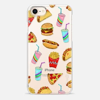 iPhone 8 Case Fast Food Fun on Clear