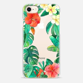 iPhone 8 Case Paradise Garden on transparent