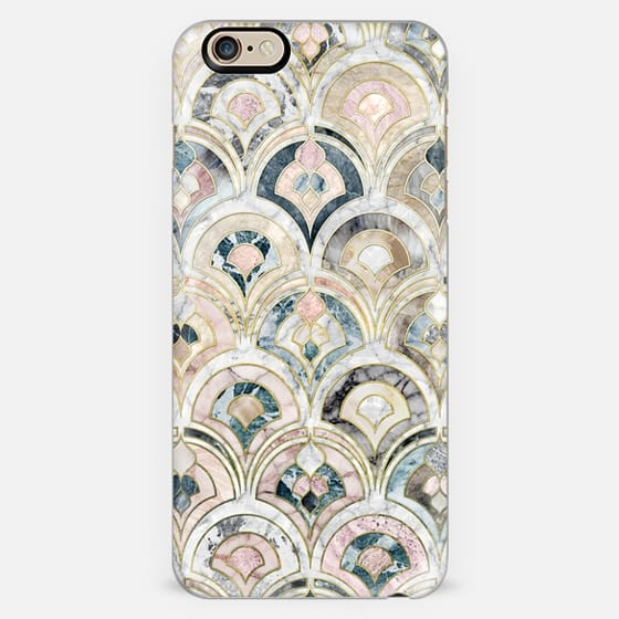 Art Deco Marble Tiles in Soft Pastels -