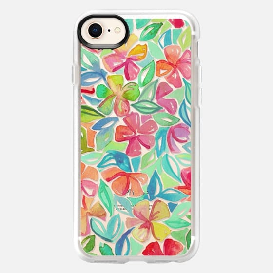 Shine Through Tropical Floral Watercolor Painting - Snap Case