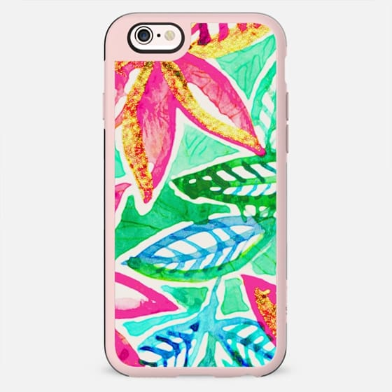Painted Floral in Tropical Colors - New Standard Case