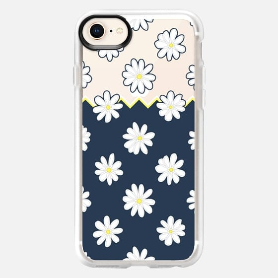 Simple & Sweet Daisy Design - Transparent - Snap Case