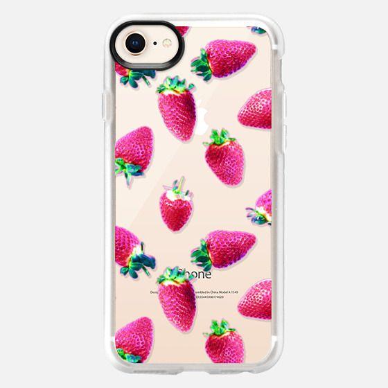 Pink Strawberry Pop Transparent - Snap Case