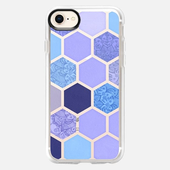 Lavender & Indigo Purple Hexagon Pattern - Snap Case