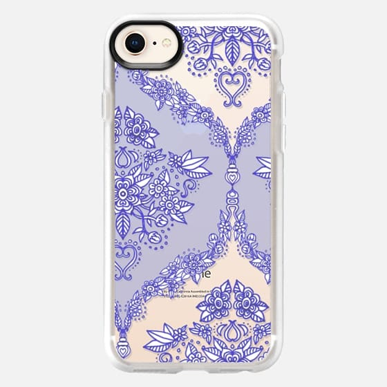 Pretty Purple Floral Pattern on Crystal Transparent - Snap Case