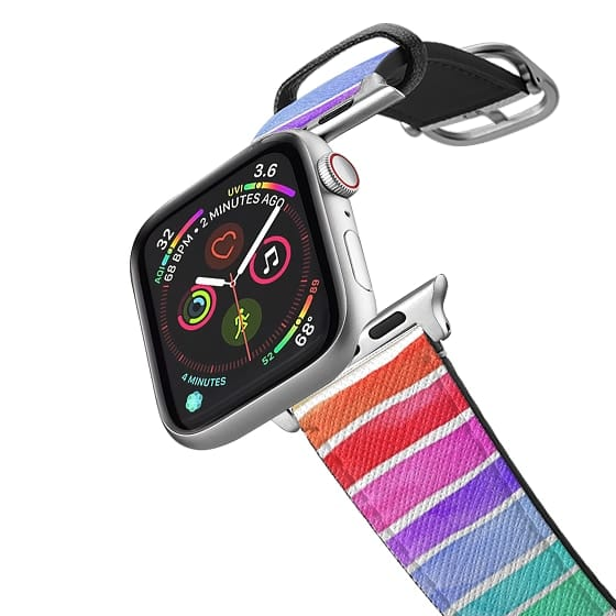 Apple Watch 38mm Bands - Rainbow Watercolor Stripe Band