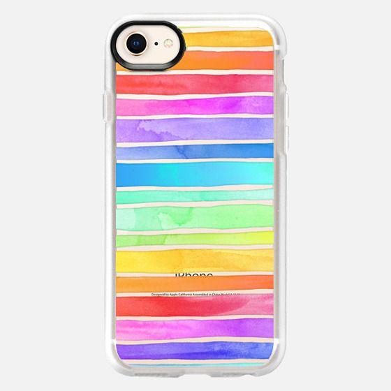 Crystal Rainbow Watercolor Stripes - Snap Case
