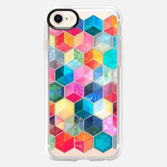 Crystal Bohemian Honeycomb Cubes - transparent - Snap Case