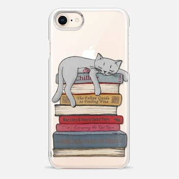 iPhone 8 Case How to chill like a cat - transparent