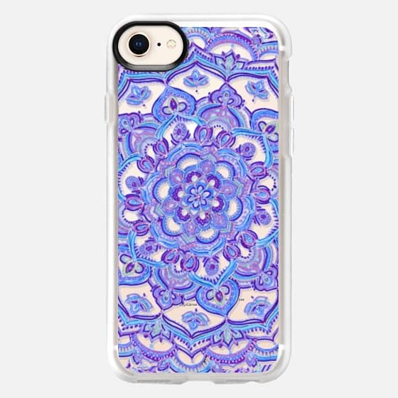 Radiant Cobalt & Royal Purple Mandala on Transparent - Snap Case