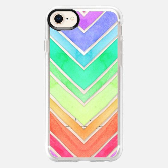 Rainbow Watercolor Chevron - Snap Case