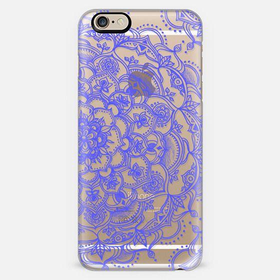 Purple Lace on Crystal Transparent -