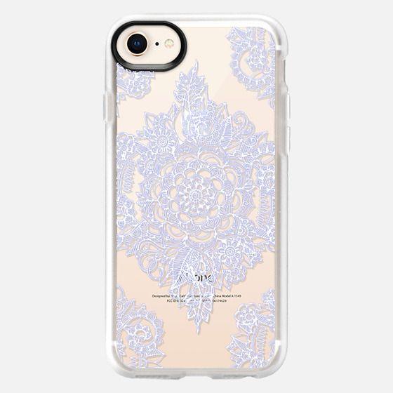 Pretty Pale Lavender Floral on Crystal Transparent - Snap Case