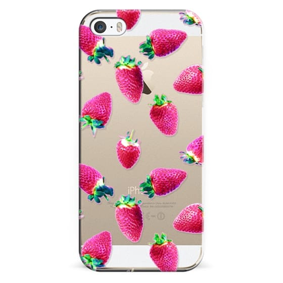 iPhone 6s Cases - Pink Strawberry Pop Transparent