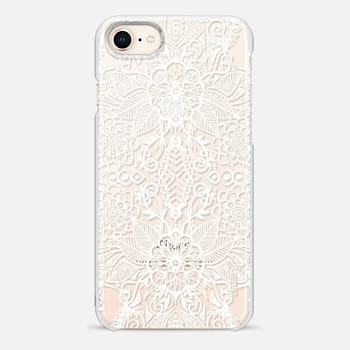 iPhone 8 Case Double Bloom - White Lace Mirrored Doodle