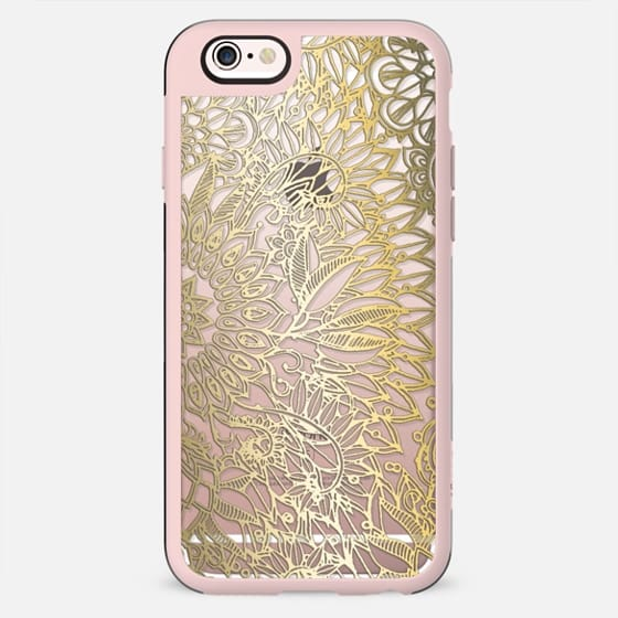 Festive Faux Gold Pattern on Crystal Transparent - New Standard Case