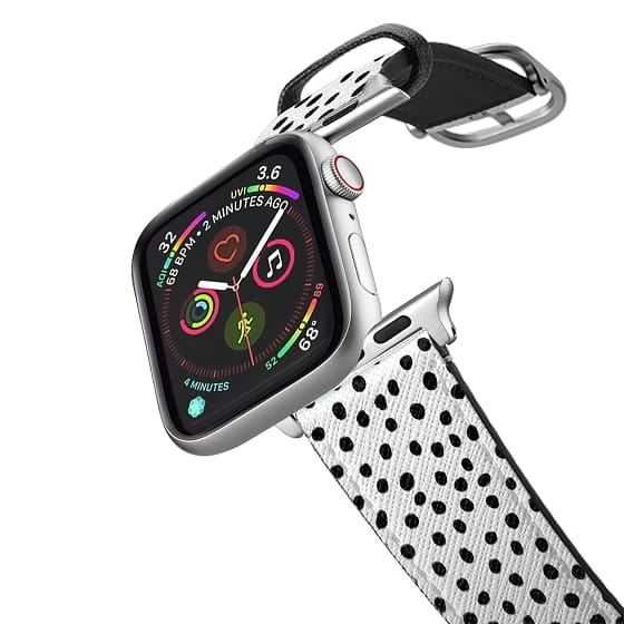 Apple Watch 38mm Bands - Ink Dots - Black on White Band
