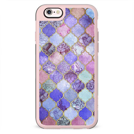 Royal Purple, Mauve & Indigo Decorative Moroccan Tile Pattern