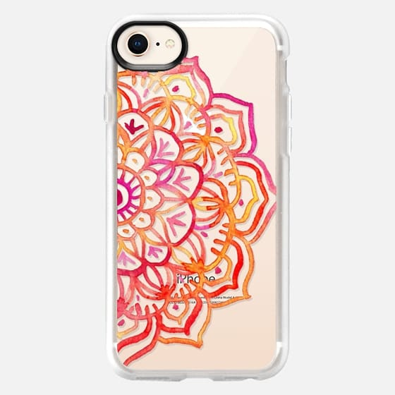 Watercolor Medallion in Sunset Colors on Transparent - Snap Case