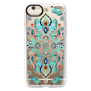Grip iPhone 6 Case - Boho Folk Art on Transparent