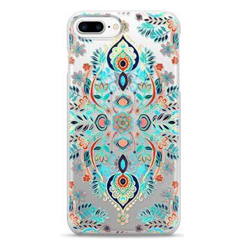 Snap iPhone 7 Plus Case - Boho Folk Art on Transparent