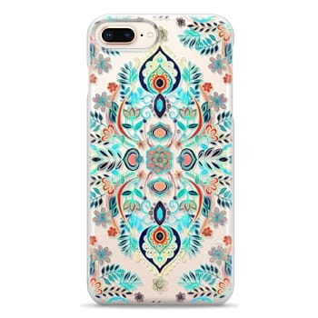 Snap iPhone 8 Plus Case - Boho Folk Art on Transparent