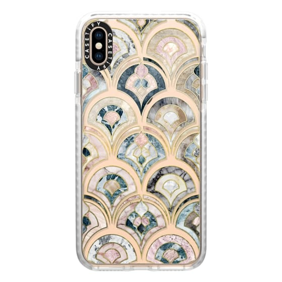 Art Deco Marble Tiles in Soft Pastel on transparent