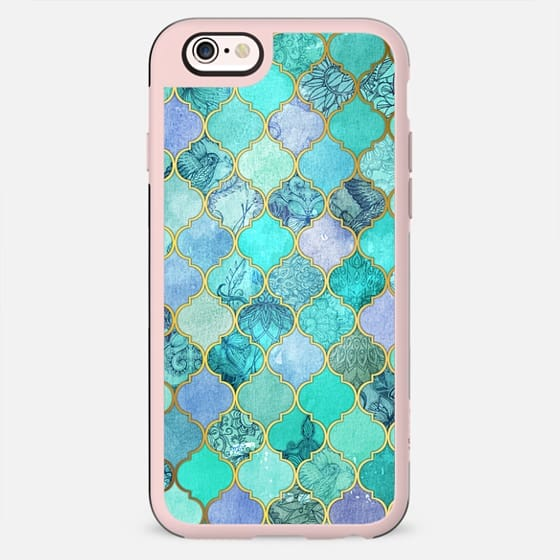 Cool Jade & Icy Mint Decorative Moroccan Tile Pattern - New Standard Case